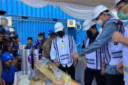 Syahrul Yasin Limpo,  Muhammad Lutfi dan  Erick Thohir Lepas Ekspor Produk Pertanian Jatim Senilai 140 Miliar