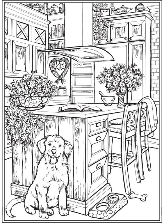 Dogs coloring pages 36