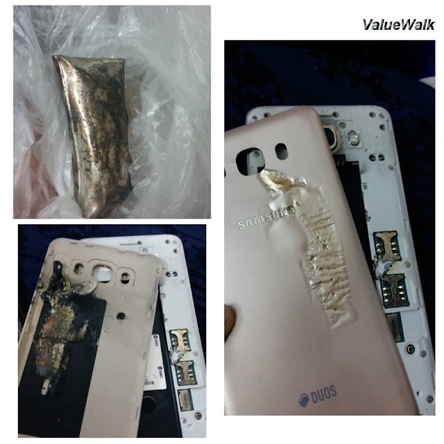 Samsung Galaxy J7 (2016) explodes in little boy's hands