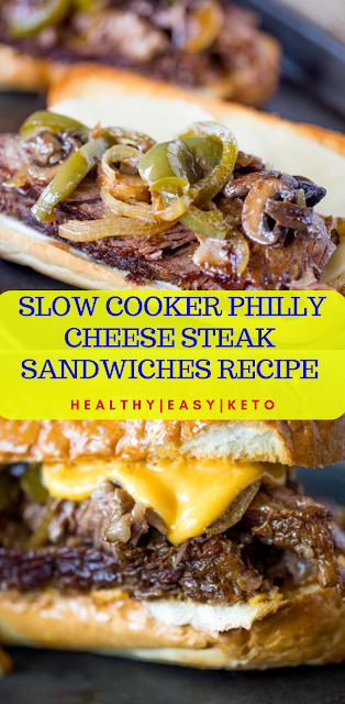 SLOW COOKER PHILLY CHEESE STEAK SANDWICHES RECIPE
