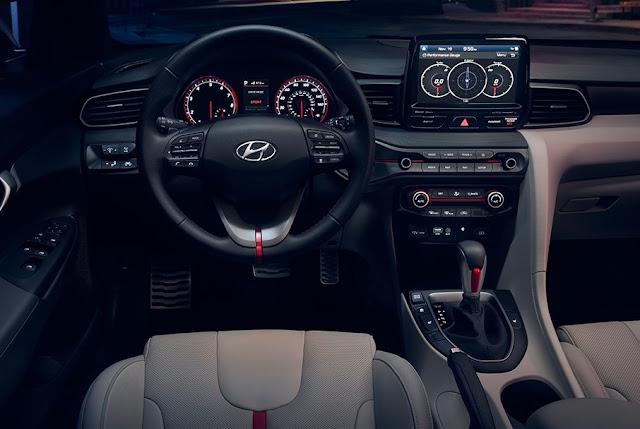 Interior view of 2019 Hyundai Veloster Turbo Ultimate