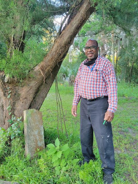 Willie Cooper Sr at the Pinehurst and San Sebastian Cemeteries in West Augustine Florida