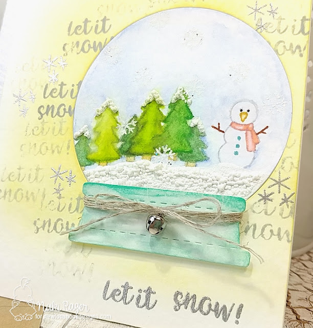 Newton's Nook Designs Snow Globe Scene Set - Naki Rager