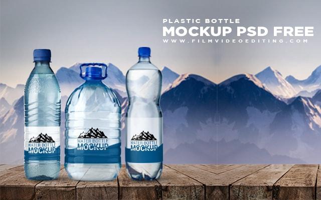 Plastic Bottle Mockup Psd Free