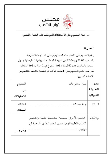 تونس : البرلمان يصادق على الترفيع في معلوم استهلاك البيرة والخمور ... وهذه التسعيرة الجديدة !
