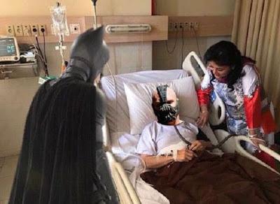 Meme Setya Novanto di Rumah Sakit Dijenguk Batman