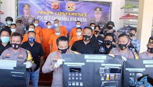 Polres Tasikmalaya Kota Ungkap kasus narkoba, 9 pelaku diamankan