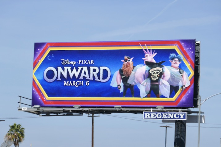 Onward biker pixies billboard