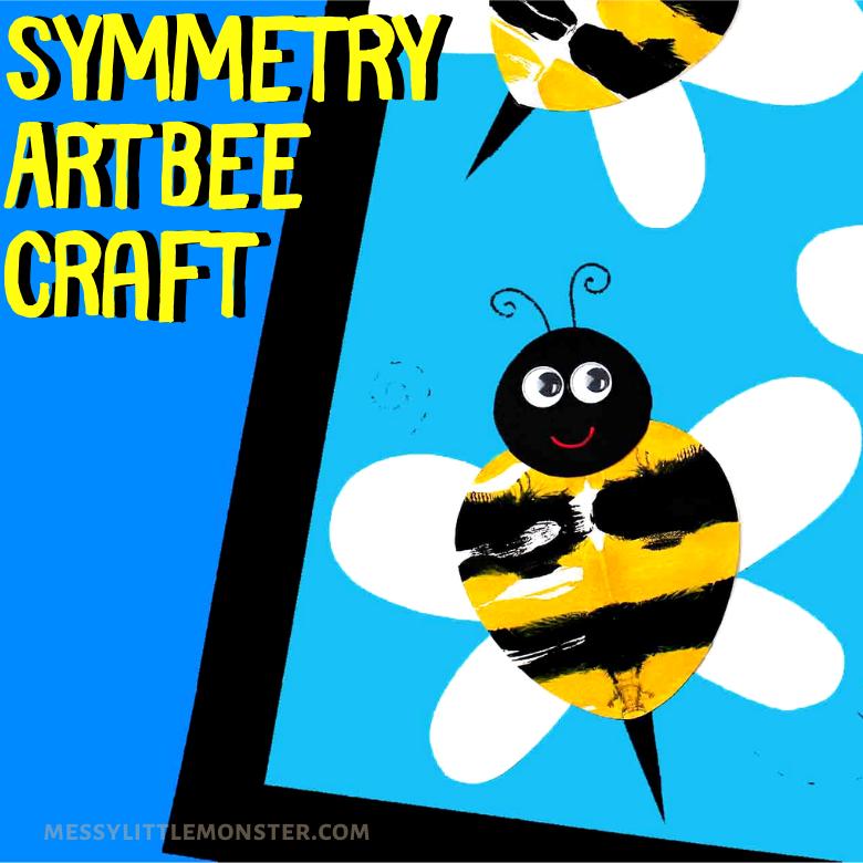 Symmetry art bee craft