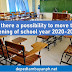 Is there a possibility to move the opening of school year 2020-2021