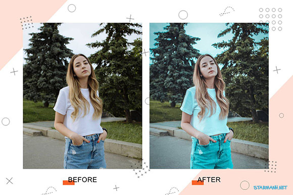 Share Preset Lightroom Floral Fragrance tone màu xanh lá (Mobile/Desktop)
