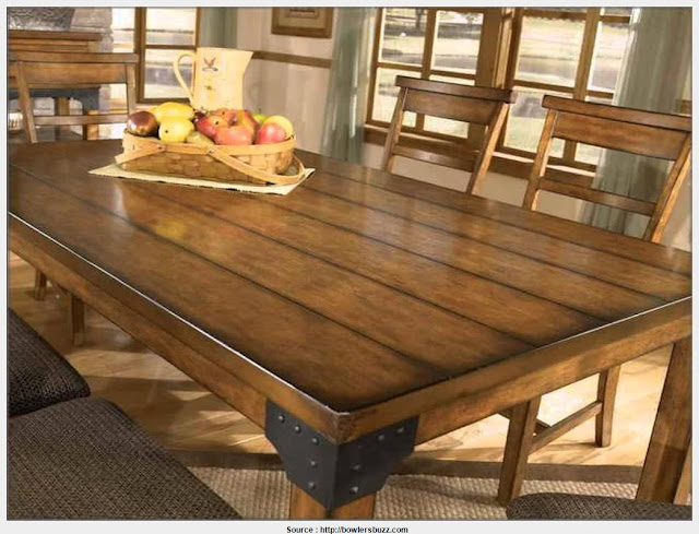 Rustic Wood Dining Room Table Wall Picture