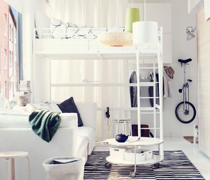 Ikea österreich Ein Wohn Schlafzimmer Mit Tromsö Hochbettgestell
