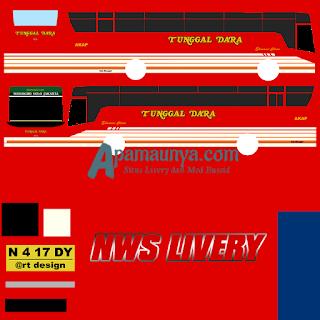 Livery bus titanium trisakti tunggal dara