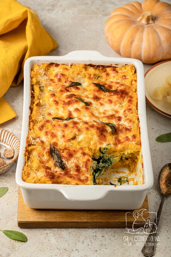 Lasagne z dynią i szpinakiem (przepis krok po kroku)