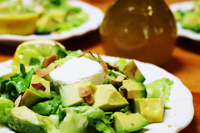 Butter Lettuce Salad with Jicama and Avocado