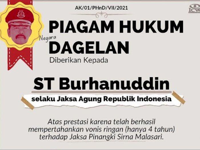 Berhasil Pertahankan Vonis Ringan Pinangki, Jaksa Agung Peroleh 'Piagam Hukum Dagelan': SELAMAT!