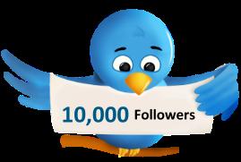 Free instant 10,000 Twitter followers , No Bots , No