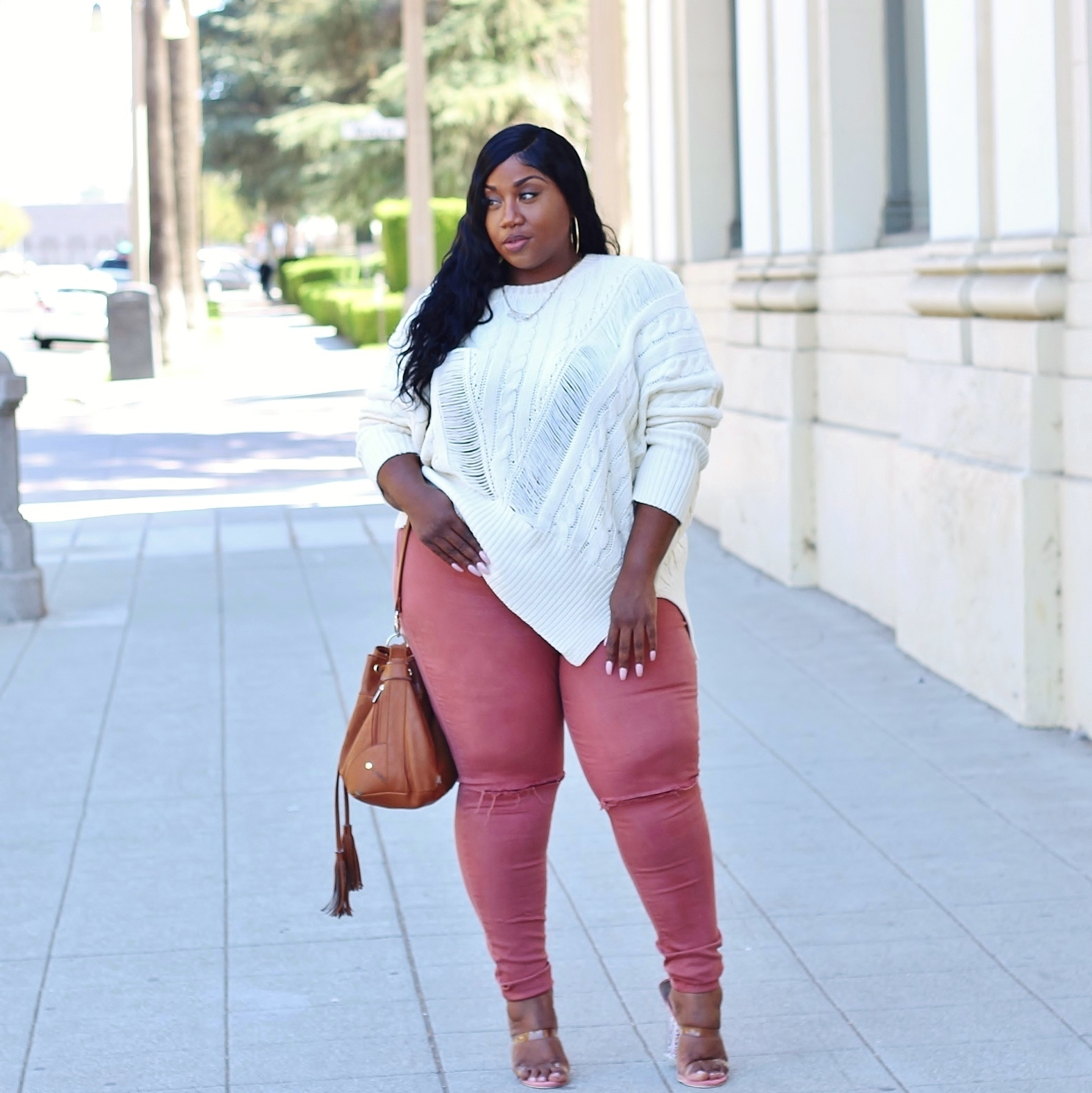 plus size fall outfit with sweater 2018