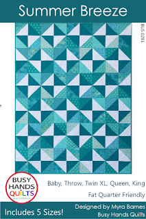 Summer Breeze Quilt Pattern by Myra Barnes of Busy Hands Quilts