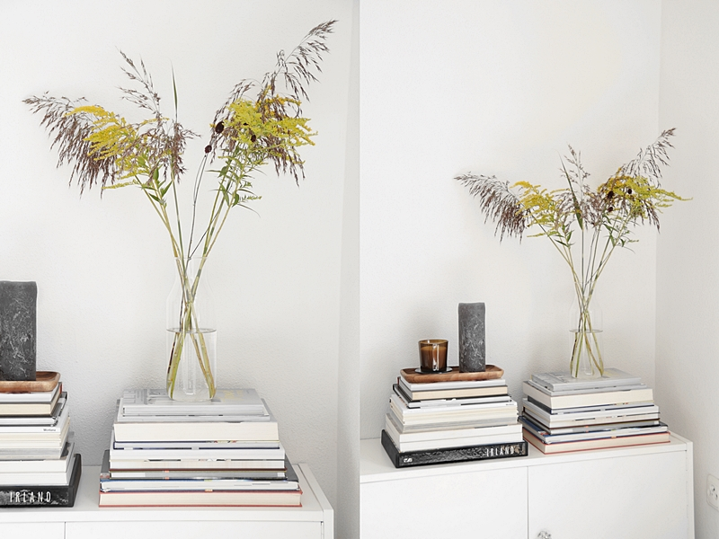 Deko für den Spätsommer/ Herbst mit Blumenstrauß