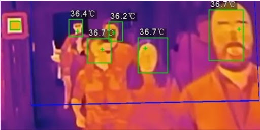 Thermal and Optical Imaging camera with Artificial Intelligence-powered face detection technology