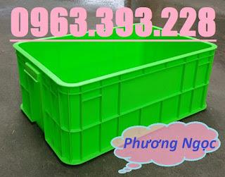 Thùng nhựa HS017, sóng nhựa bít HS017, thùng nhựa đặc có nắp,