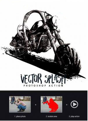 Vector Splash Photoshop Action