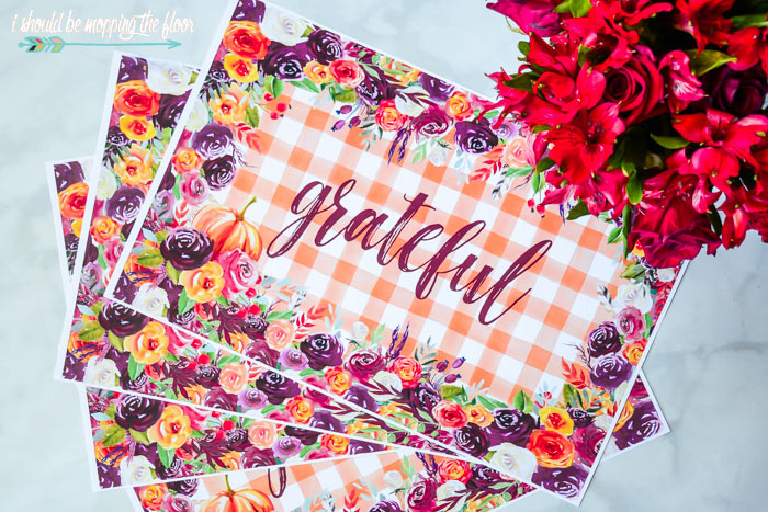 Grateful Printable Placemats