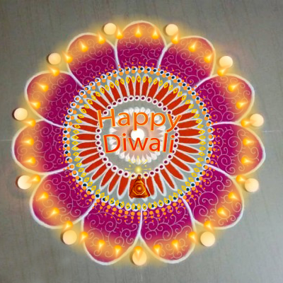 दिवाली के लिए रंगोली डिज़ाइन  Diwali Rangoli design
