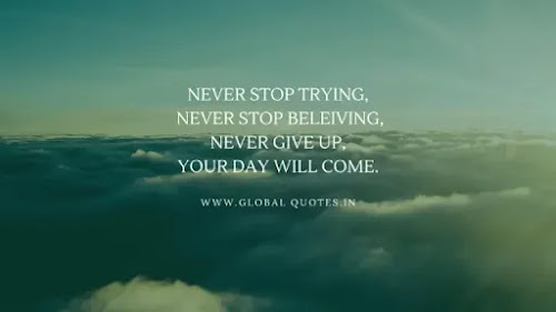 Never stop attempting. Never stop believing. Never quit. Your day will come.