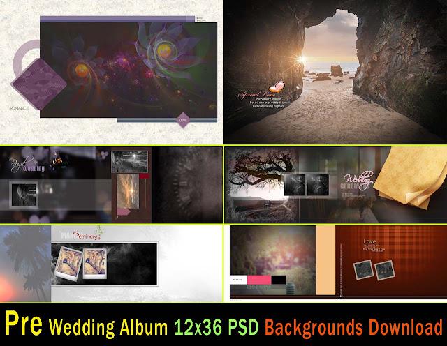 Pre Wedding Album 12x36 Psd Backgrounds Download