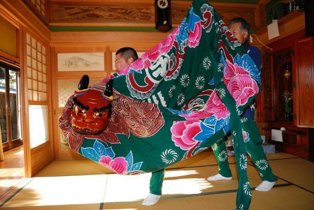 Kayata Nikumi Shishimai (Lion Dance Festival), Sosa City, Chiba Pref.