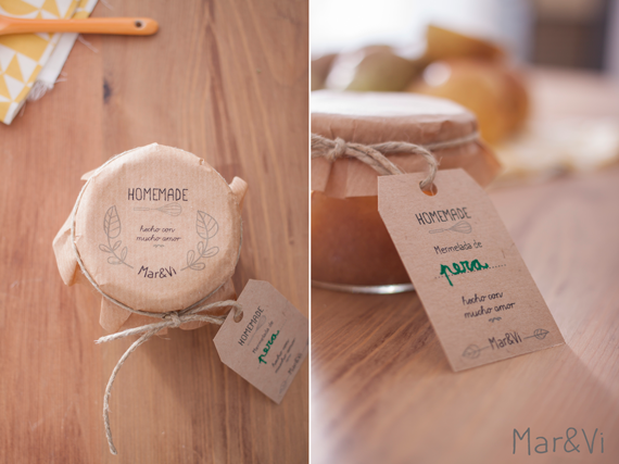 mermeladas para regalar: packaging imprimible