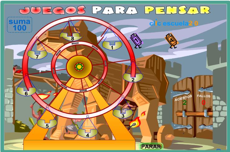 http://www2.gobiernodecanarias.org/educacion/17/WebC/eltanque/juegosparapensar5/actividades/suma100_o_p.html