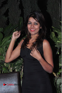 Actress Kavya Kumar Stills in Black Short Dress at F Club pre soft Launch  0006.JPG