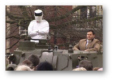 Mr Cole Was More Recently Spotted In An Armoured Vehicle Alongside Ersatz Stig Travelling To Broadcasting House Deliver A Peion Bring Back