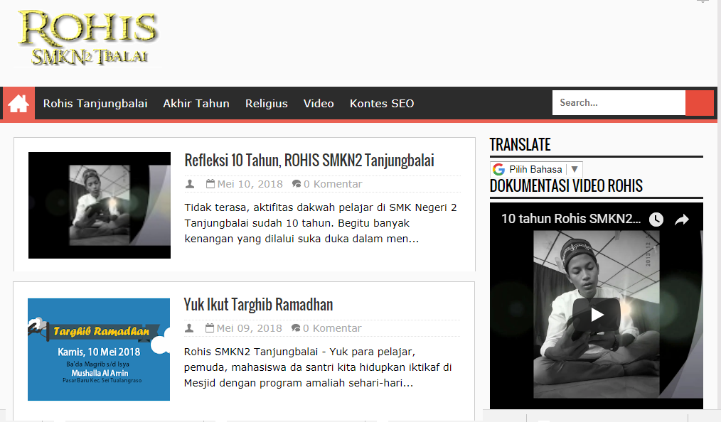 Blog ROHIS SMKN2 Tanjungbalai