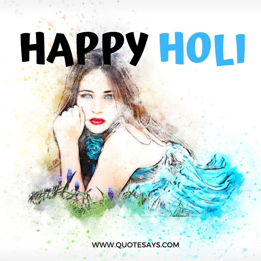Happy Holi Girl