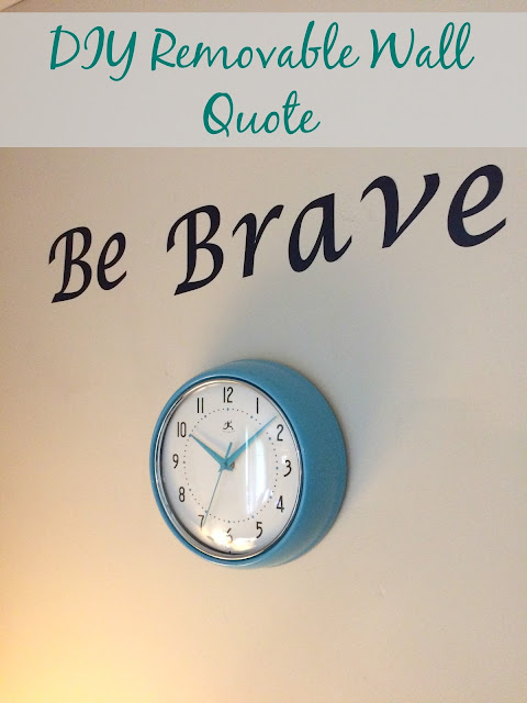 Make a removeable wall decal with your Cricut machine