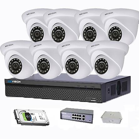 Bộ 8 Camera Full HD + Đầu ghi hình chính hãng giá rẻ