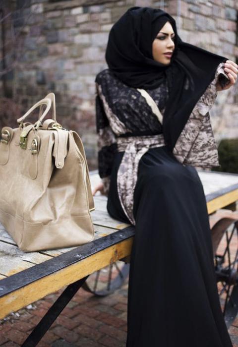 busana muslim sari india modern