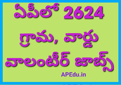 AP Grama Volunteer Recruitment-2020 – Apply Online for 2624 Jobs