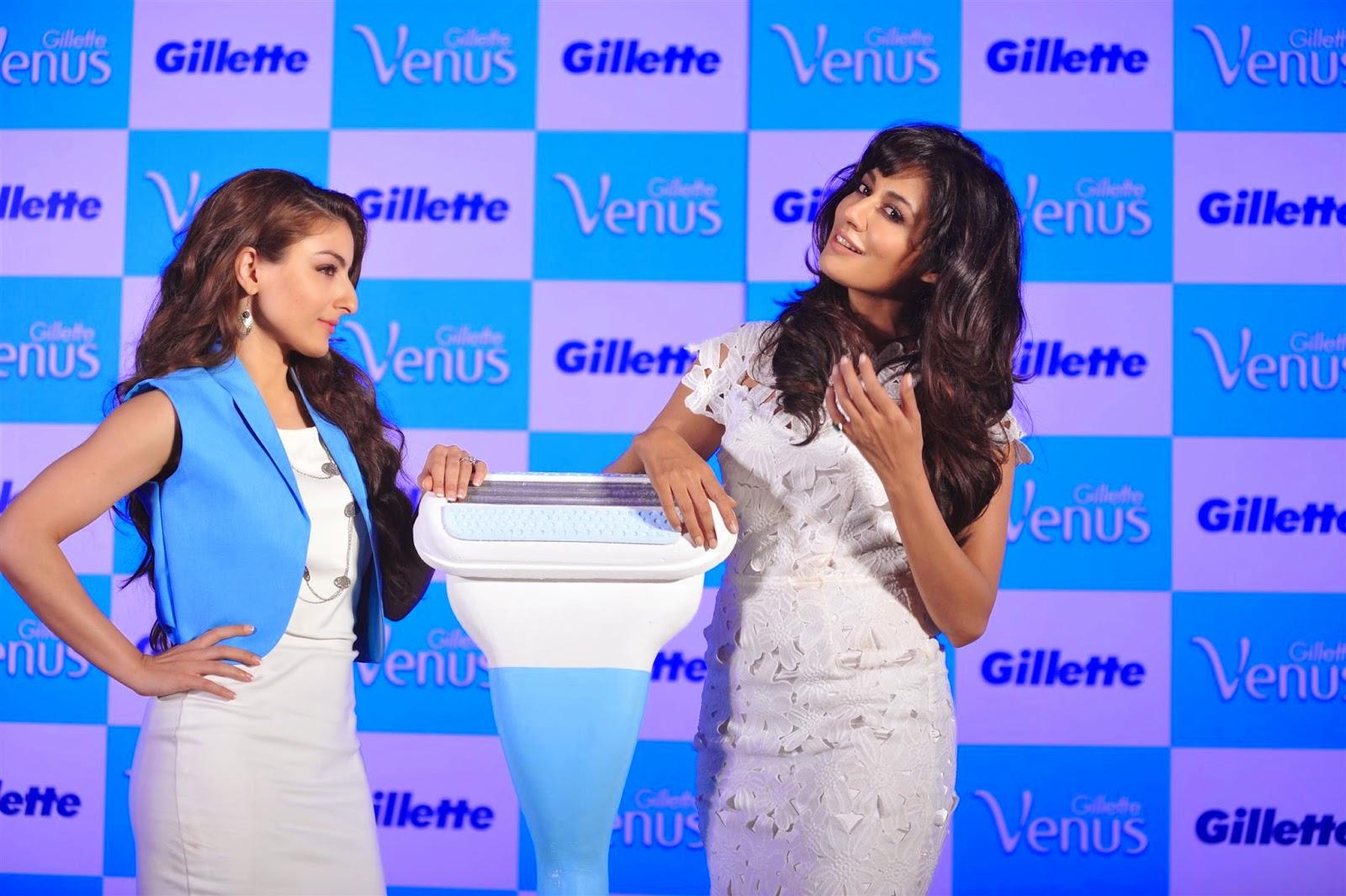 Chitrangda with Soha Ali Launch Gillette Venus Satin Care Shave Gel