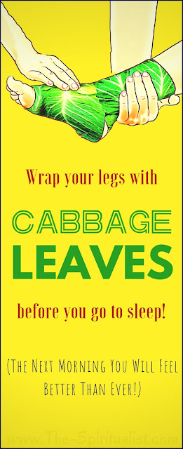 Wrap Your Leg With Cabbage For 1 Hour and Say Goodbye To Your Joint Pain