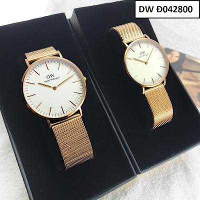 Đồng hồ đeo tay cặp đôi dây inox DW Đ042800