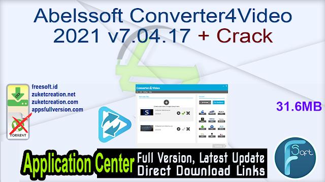 Abelssoft Converter4Video 2021 v7.04.17 + Crack