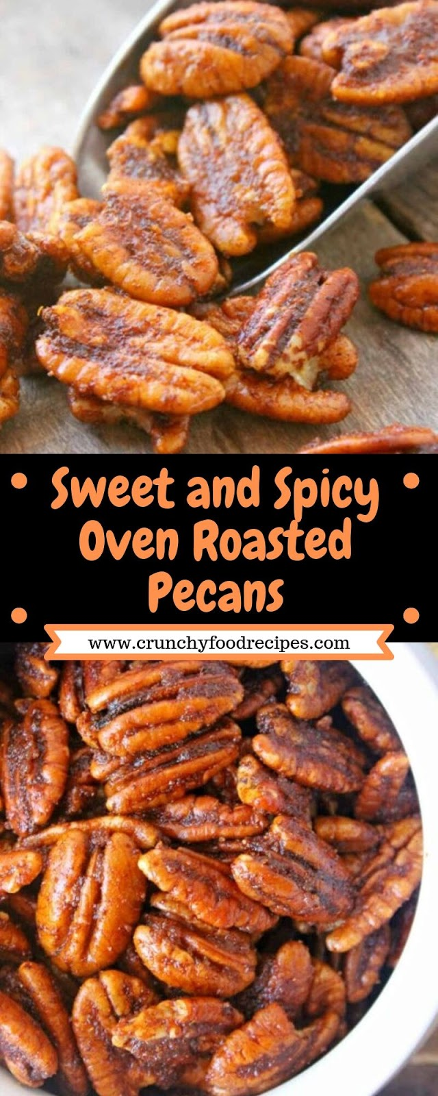 Sweet and Spicy Oven Roasted Pecans