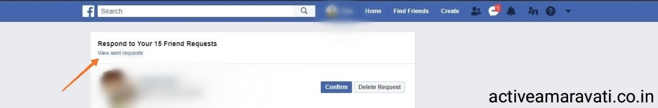How to see outstanding Facebook Friend requests that you have sent | in Telugu