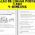 Avaliação de Língua Portuguesa para 3º ano